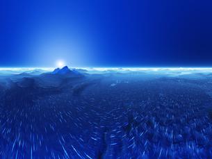 惑星の地形と空の素材 [FYI01154047]