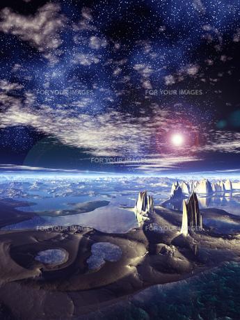 神秘惑星と宇宙の素材 [FYI01154055]