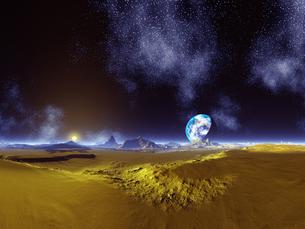 惑星から見た地球 CGの素材 [FYI01154072]
