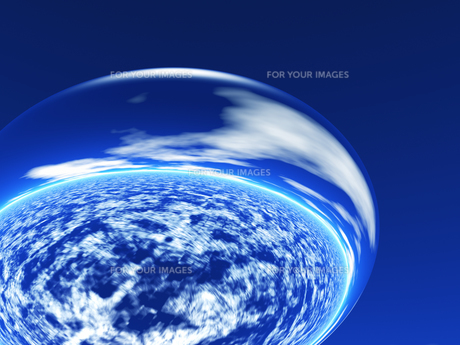大気と球体の素材 [FYI01154080]