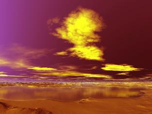 黄金色の雲 CGの素材 [FYI01154088]