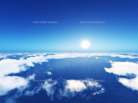 雲海と海と太陽の素材 [FYI01154104]
