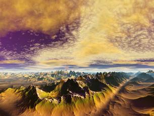 惑星の地形の素材 [FYI01154109]