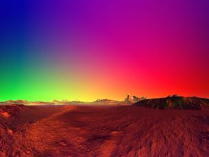 虹色の空と惑星 CGの素材 [FYI01154121]