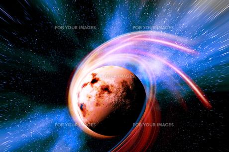 移動惑星と銀河の素材 [FYI01154132]