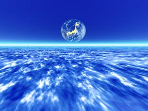 惑星の大気と地球 CGの素材 [FYI01154146]