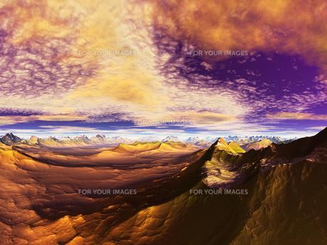 惑星の地形の素材 [FYI01154185]