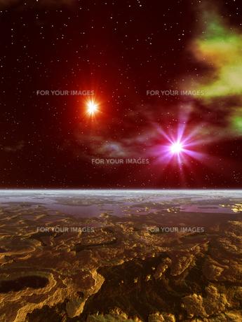 惑星の地形の素材 [FYI01154191]