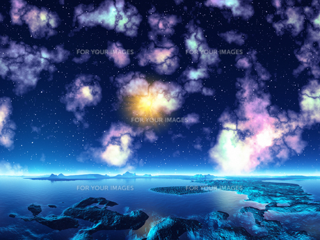 輝く宇宙 CGの素材 [FYI01154222]