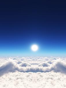 空と雲海と太陽の素材 [FYI01154244]