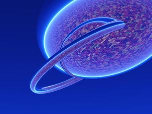 情報世界イメージ リングと球体の素材 [FYI01154343]