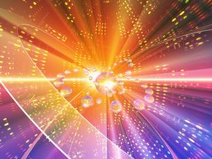 光の空間に球体の素材 [FYI01156332]