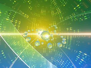 光の空間に球体の素材 [FYI01156414]