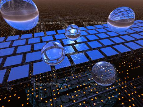 近未来空間に球体の素材 [FYI01156426]