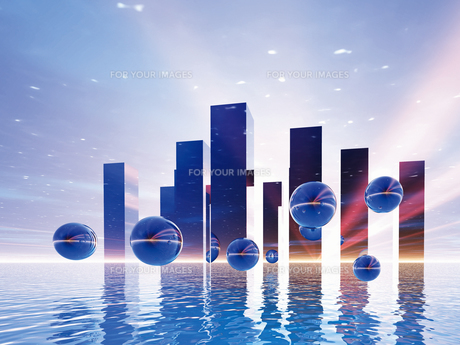 未来都市イメージ(CG)の素材 [FYI01156547]
