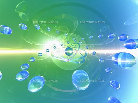 光の空間に球体の素材 [FYI01156553]