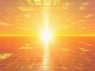 オレンジの空間と光の素材 [FYI01156585]
