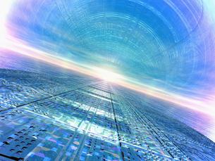 反射する地表と光の空間の素材 [FYI01156618]