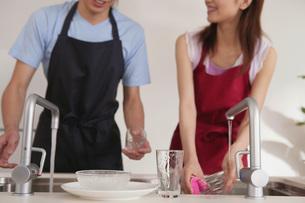 食器を洗う女性の素材 [FYI01156758]