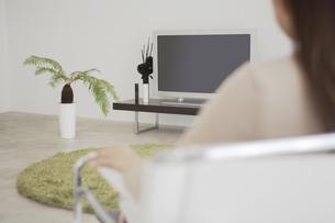観葉植物とテレビの素材 [FYI01156904]