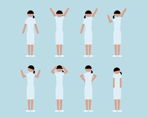 看護師女性(いろいろな感情)の素材 [FYI01156981]