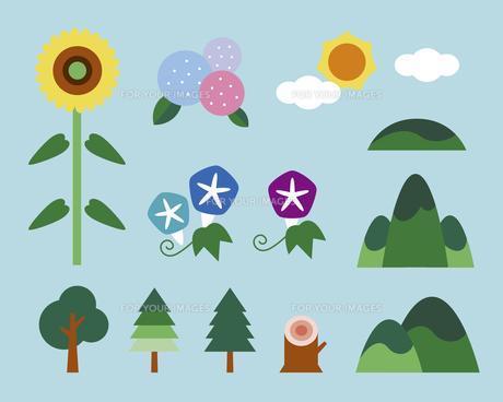 夏の自然の素材 [FYI01157030]