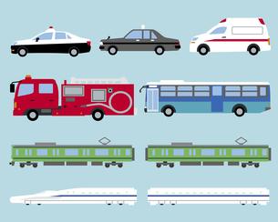 いろいろな公共の乗り物の素材 [FYI01157076]