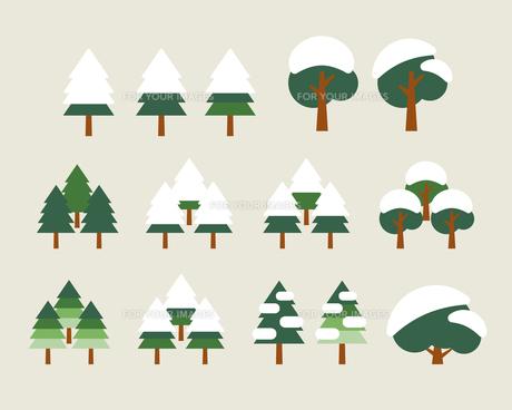 冬の木と雪の素材 [FYI01157092]