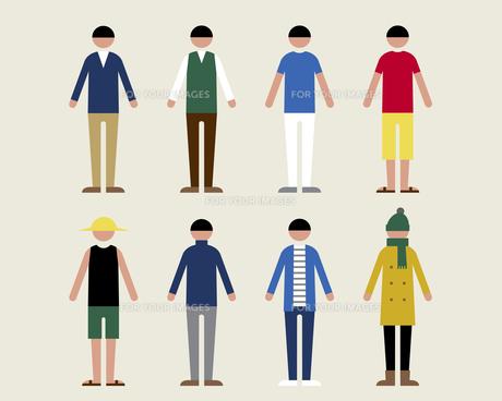 成人男性(季節の服装)の素材 [FYI01157112]