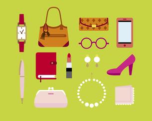 女性の持ち物の素材 [FYI01157124]