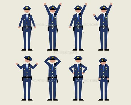 警官男性(いろいろな感情)の素材 [FYI01157137]