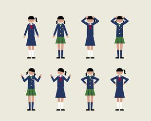 女子学生(感情2)の素材 [FYI01157150]