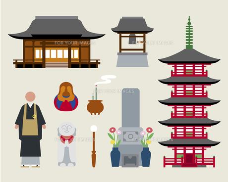 お寺セットの素材 [FYI01157170]