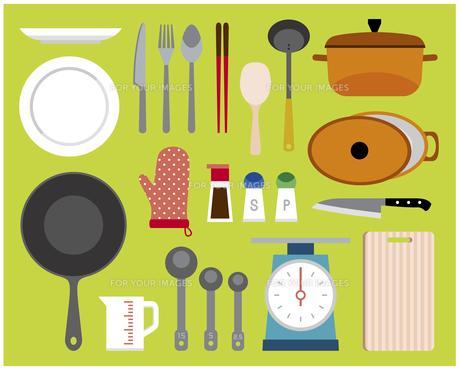 料理道具セットの素材 [FYI01157186]