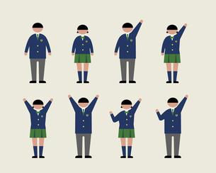 肥満の学生(感情1)の素材 [FYI01157198]