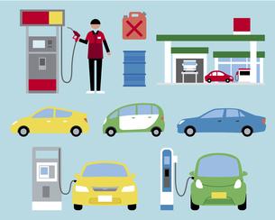 ガソリンスタンドセットの素材 [FYI01157213]