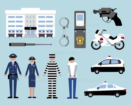 警察と犯人の素材 [FYI01157214]
