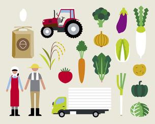 農家と野菜の素材 [FYI01157228]