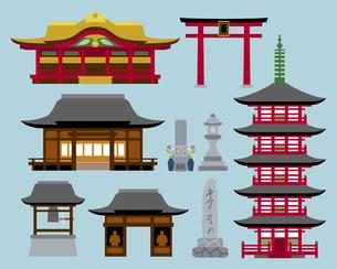 神社・寺の建物の素材 [FYI01157230]