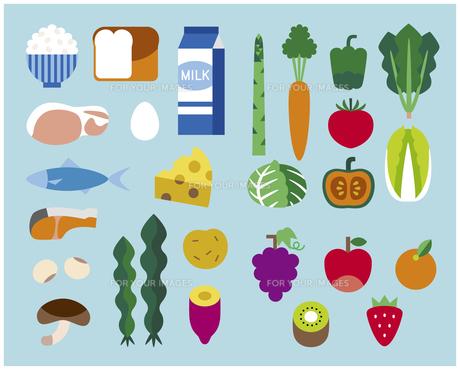 食の栄養素セットの素材 [FYI01157251]