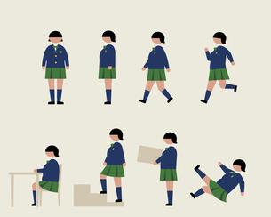 肥満の女子学生(いろいろな行動)の素材 [FYI01157276]