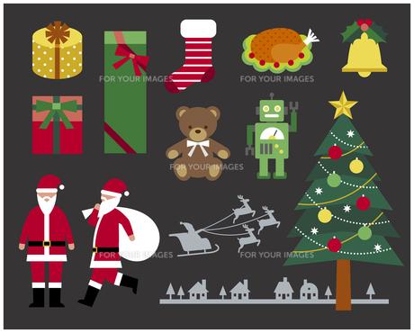 クリスマスセットの素材 [FYI01157296]