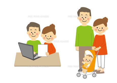 夫婦と家族の素材 [FYI01157336]