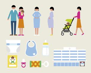妊娠出産セットの素材 [FYI01157348]