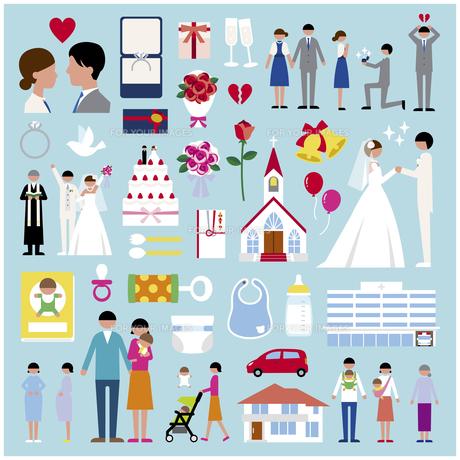 プロポーズ結婚出産セットの素材 [FYI01157376]