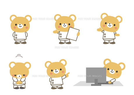 医療イメージ クマの先生の素材 [FYI01157407]