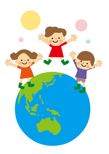 地球と子どもの素材 [FYI01157468]