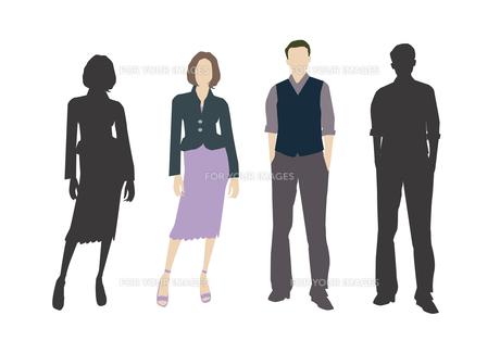 男性と女性の素材 [FYI01157499]