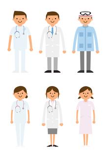病院で働く人たちの素材 [FYI01157521]