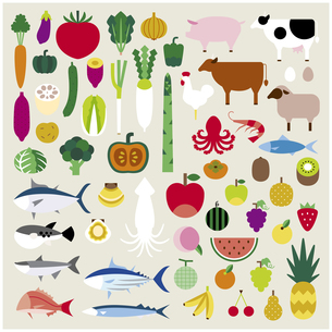 食物セットの素材 [FYI01157565]